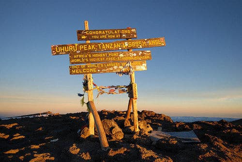 The highest point in Africa, Uhuru Peak - Mt. Kilimanjaro!