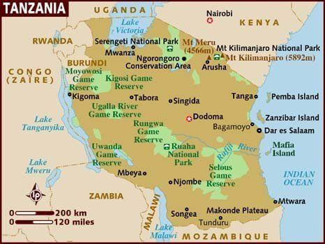Map of Tanzania