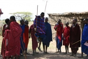 Traditional Maasai dance